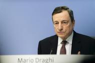 El ex presidente del BCE, Mario Draghi.