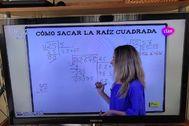 Clase de Matemáticas proporcionada por el Ministerio de Educación en el canal Clan.