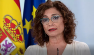 La ministra de Hacienda, María Jesús Montero, en una comparecencia tras el segundo Consejo de Ministros en estado de alarma.