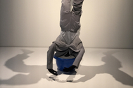 Una obra de arte expuesta en el Centre Pompidou de Málaga en una pasada exposición.