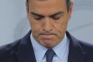 El presidente del coronavirus en la 'zona cero' de La Moncloa