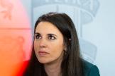 Angel Navarrete 03/03/2020 Madrid, Comunidad de Madrid La Ministra Portavoz, Maria Jesus lt;HIT gt;Montero lt;/HIT gt;, centro, acompañada de la Ministra de Educación, Isabel Celaa, izquierda, y la Ministra de Igualdad, lt;HIT gt;Irene lt;/HIT gt; lt;HIT gt;Montero lt;/HIT gt;, ofrecen la rueda de prensa posterior al Consejo de Ministros