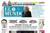 Los quioscos seguirán abiertos: consulte la portada de EL MUNDO del domingo 29 de marzo