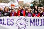 Manifestación del 8M celebrada en Madrid. JAVI MARTÍNEZ