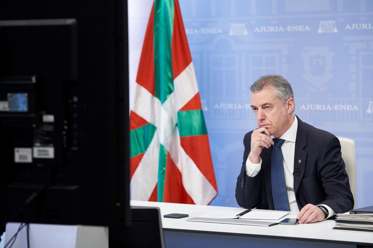 El presidente vasco, Iñigo Urkullu, este domingo.