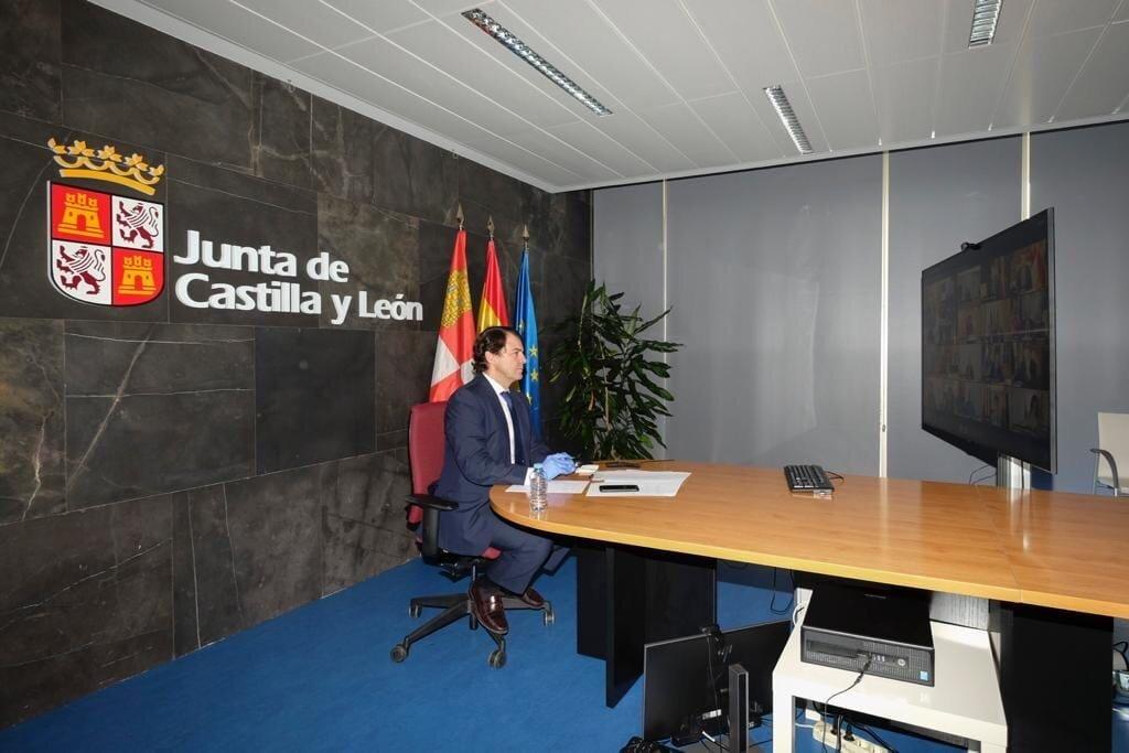 El presidente de Castilla y León, Alfonso Fernández Mañueco, este domingo.