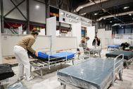 Hospital montado en el recinto ferial de Ifema (Madrid).