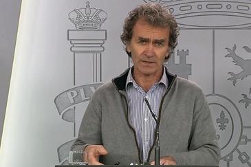Fernando Simón, en una rueda de prensa desde Moncloa.