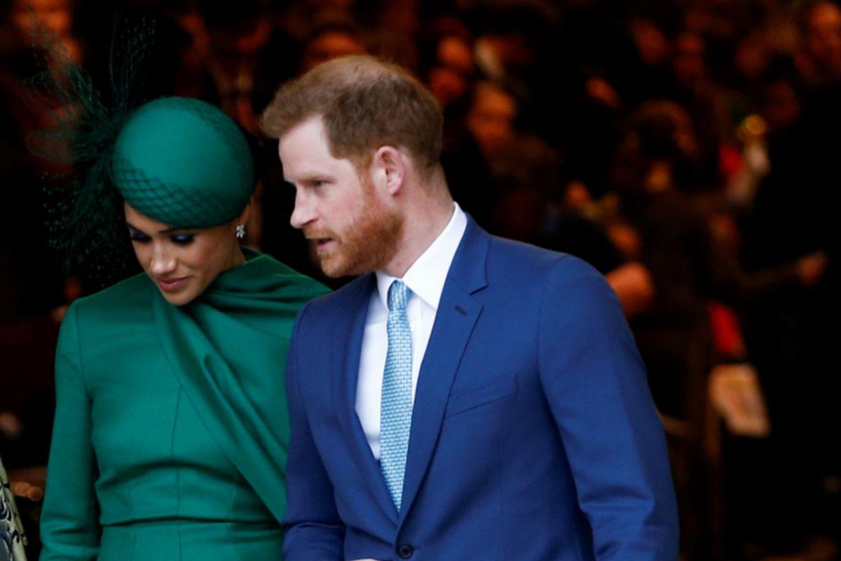 Markle y el príncipe Harry, en su último acto público en Londres.