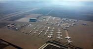 Aviones estacionados durante la cuarentena.