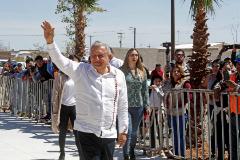 Andrés Manuel López Obrador, de gira en el estado de Sonora (México).