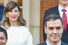 El presidente del Gobierno, Pedro Sánchez, y la ministra de Trabajo, Yolanda Díaz.