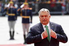 Hungarian Prime Minister lt;HIT gt;Viktor lt;/HIT gt; lt;HIT gt;Orban lt;/HIT gt; arrives for the informal meeting of European Union leaders in Sibiu, Romania, May 9, 2019. REUTERS/Francois Lenoir - RC1D05778E80