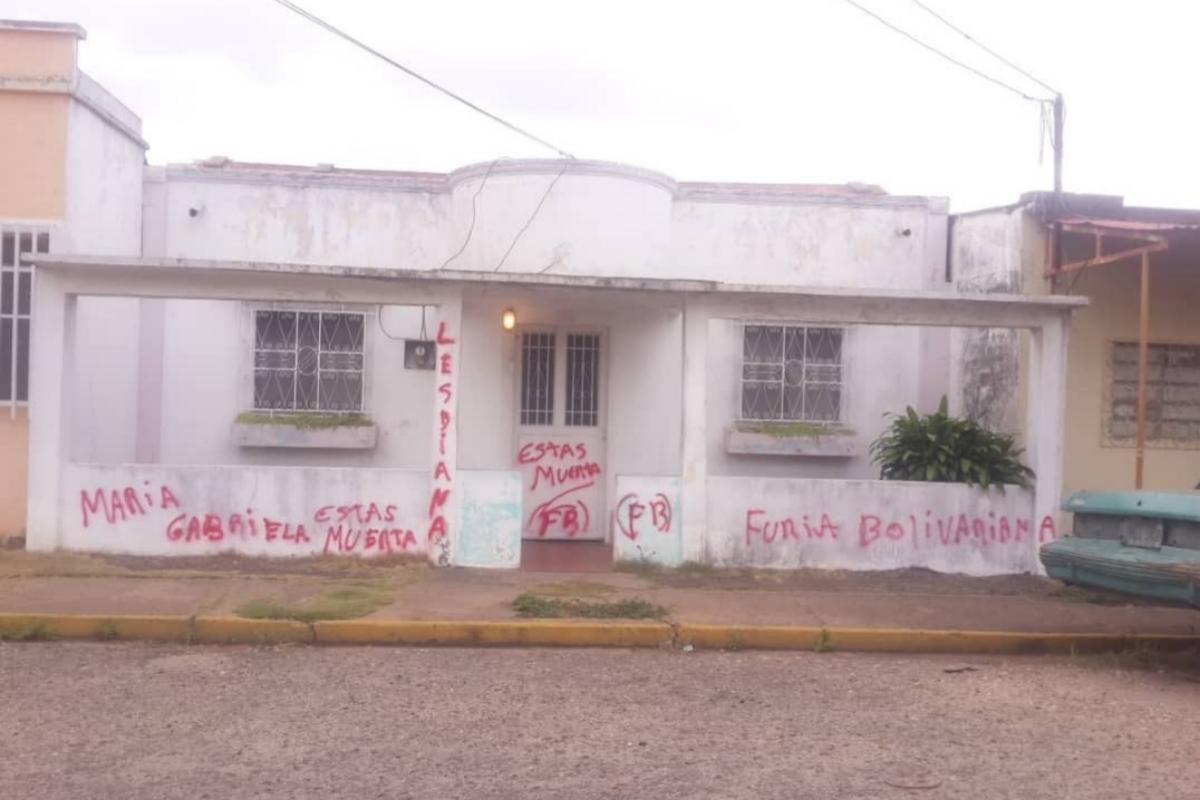 Pintadas en casas de opositores venezolanos.