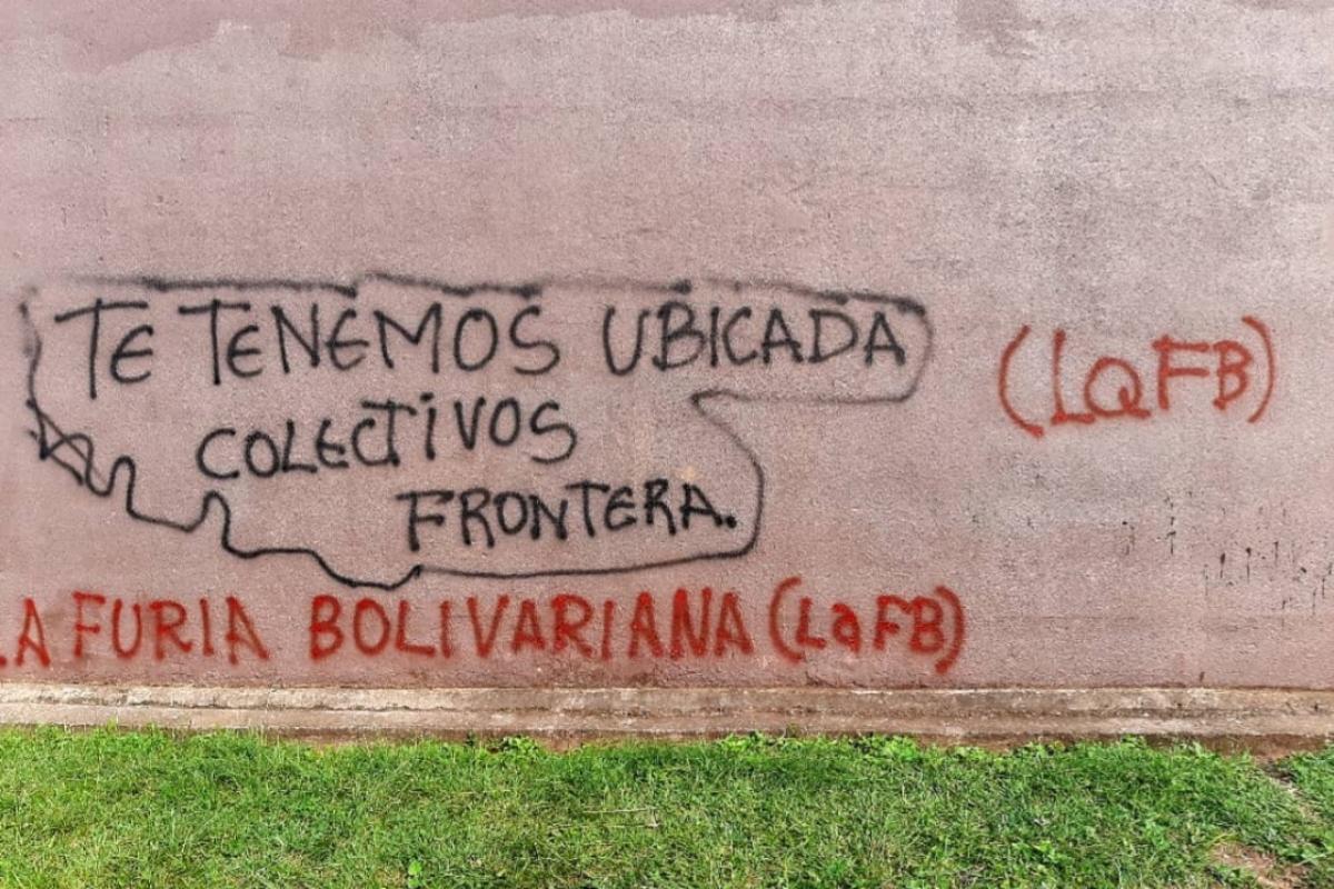 "Pintadas en casas de opositores venezolanos firmadas por ""Furia Bolivariana""."