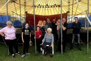Componentes del Gran Circo Nevada, confinados en Monforte de Lemos (Lugo).