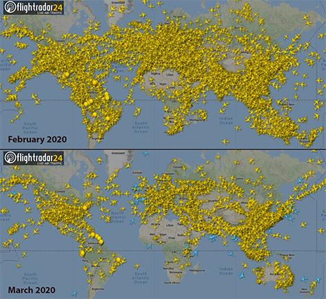 Un Cielo Sin Aviones Las Imágenes De Un Espacio Aéreo Desierto Por La Pandemia El Baúl