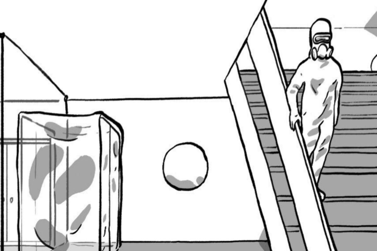 Una de las viñetas del cómic.