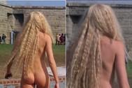 La actriz Daryl Hannah en la versión original de '1, 2, 3... Splash' y en la versión de Disney+.