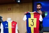 Piqué, con la camiseta del FC Andorra.