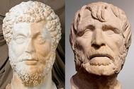 Marco Aurelio y Séneca.