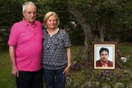Los padres de Miguel Ángel Blanco, Miguel Blanco y Consuelo Garrido, en una imagen de 2012 en Vitoria.