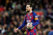 Leo Messi, ante la Real Sociedad.