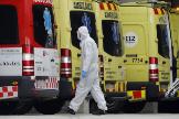 Ambulancias del Servicio de Emergencias Médicas.