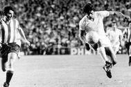 Benito, durante un partido con el Real Madrid.