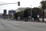 La avenida Diagonal de Barcelona.