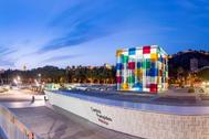 Imagen exterior del Centre Pompidou de Málaga.