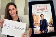 Malú en una imagen de Instagram junto a otra compartida por Albert Rivera desde su perfil