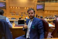 El alcalde de Almanza y senador del PP por León, Javier Santiago Vélez.