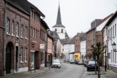 Calles vacías en el municipio de Gangelt, distrito de Heisenberg, el epicentro del coronavirus en Alemania.