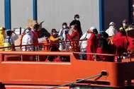 Llegada de una patera a Tenerife el pasado 31 de marzo.