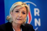 La líder de Agrupación Nacional, Marine Le Pen.