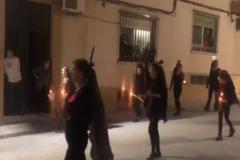El grupo de mujeres de Jaén, durante la 'procesión'.
