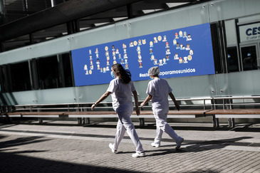 Alberto Di Lolli. 4/4/2020, lt;HIT gt;Madrid. lt;/HIT gt; CRISIS DEL lt;HIT gt;CORONAVIRUS lt;/HIT gt;. Hospital de IFEMA