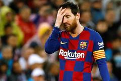Leo Messi, durante el último clásico de Liga en el Bernabéu.