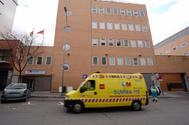 Una ambulancia del Summa, en la sede de Arganzuela.