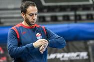 Raúl Alonso, en un entrenamiento.
