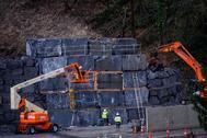 06/03/2020. lt;HIT gt;Zaldibar. lt;/HIT gt; Bizkaia. País Vasco. Muro de contención en el vertedero de lt;HIT gt;Zaldibar lt;/HIT gt;. ARABA PRESS/PATXI CORRAL