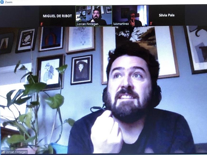 Lorcan Finnegan en un momento de la entrevista.