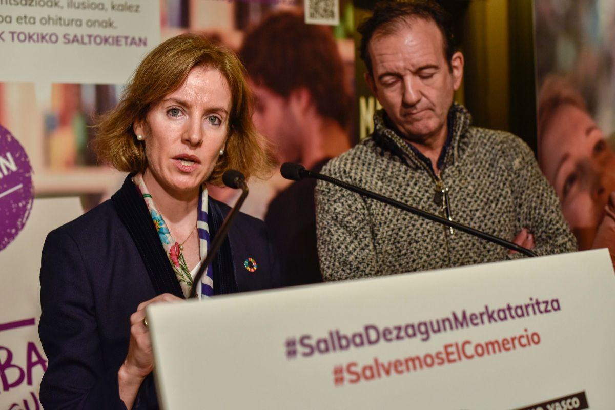 La consejera de Turismo, Comercio y Consumo Sonia Pérez durante un acto de promoción del sector previo al confinamiento.