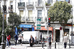 Una de las calles del distrito de Puente de Vallecas