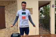 Roberto Bautista entrena en casa.