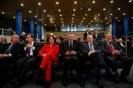 Martínez-Almeida, Botella, Ruiz-Gallardón, Álvarez del Manzano y Barranco, en el aniversario de Ifema.