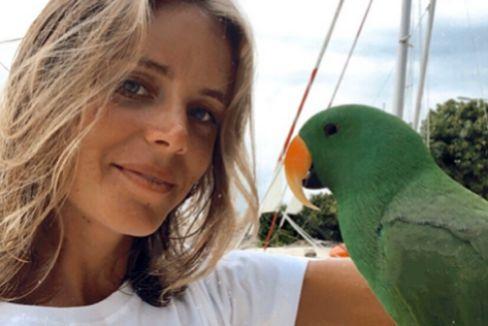 La autora Ana Hernández Sarría en Maldivas.