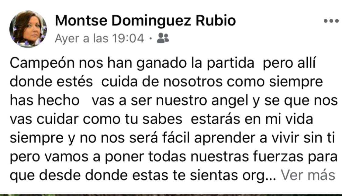 Post en Facebook de la madre de Óscar.