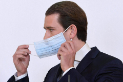 El canciller austríaco, Sebastian Kurz, durante una rueda de prensa.